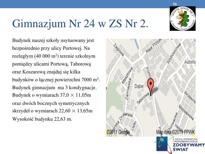Gimnazjum Nr 24 w ZS Nr 2.
