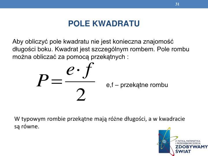 POLE KWADRATU