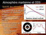 atmosph re martienne et ods2