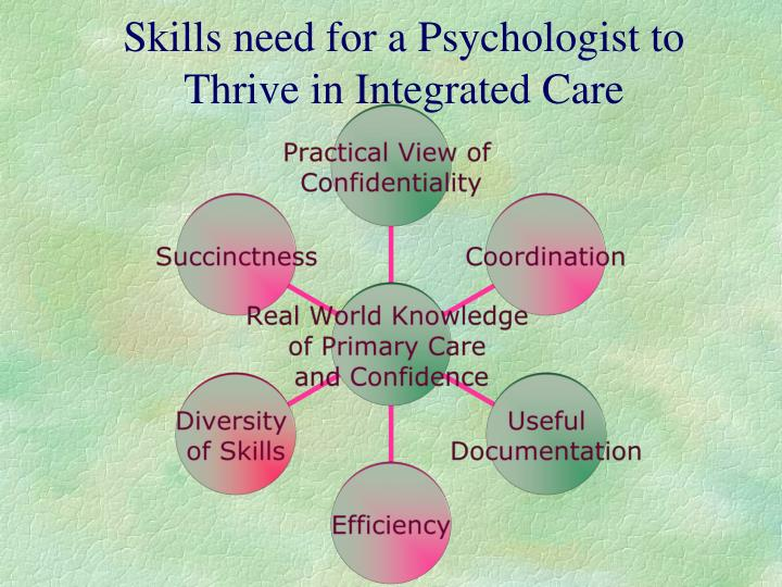 Skills need for a Psychologist to