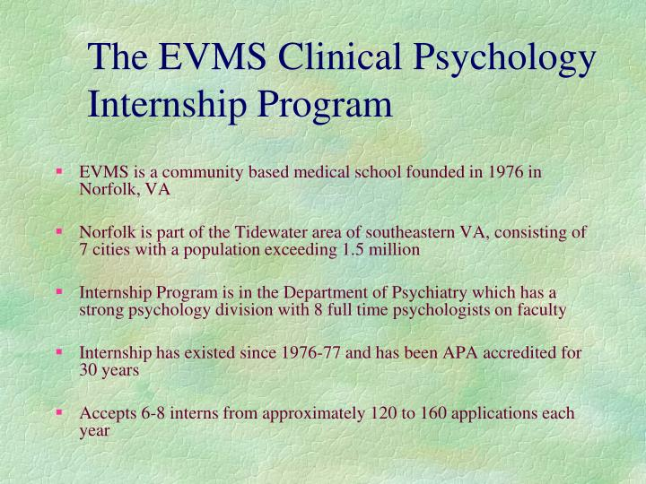 The EVMS Clinical Psychology Internship Program