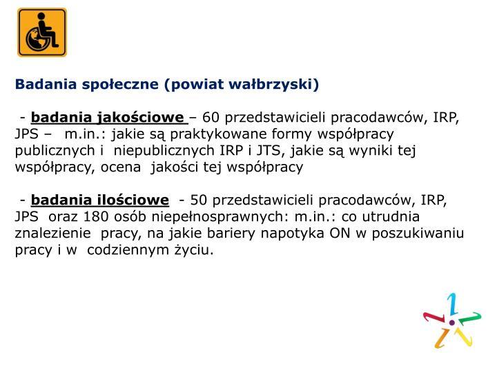 Badania społeczne (powiat wałbrzyski)