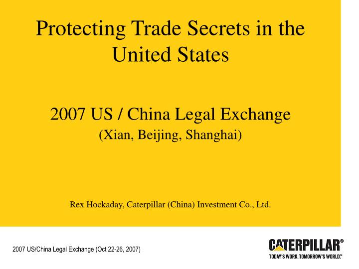 Protecting Trade Secrets in the United States