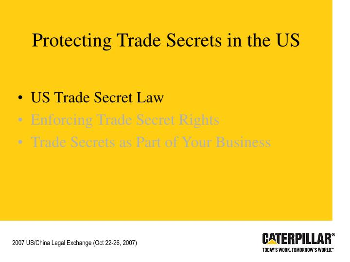 Protecting trade secrets in the us1
