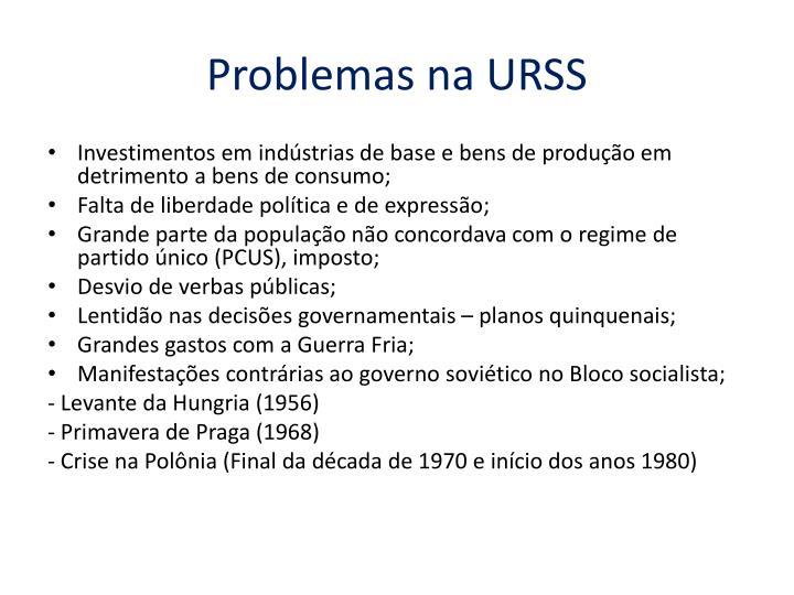 Problemas na URSS