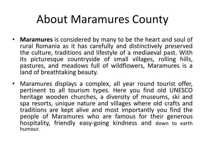 About maramures county