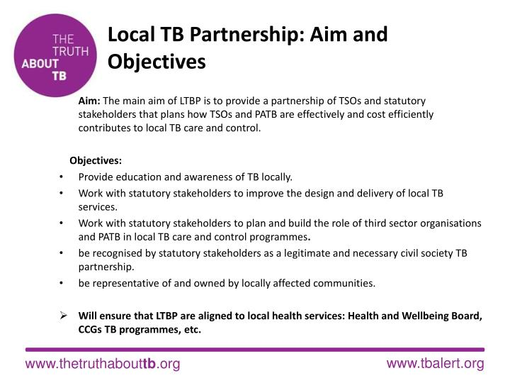 Local TB Partnership: Aim and Objectives