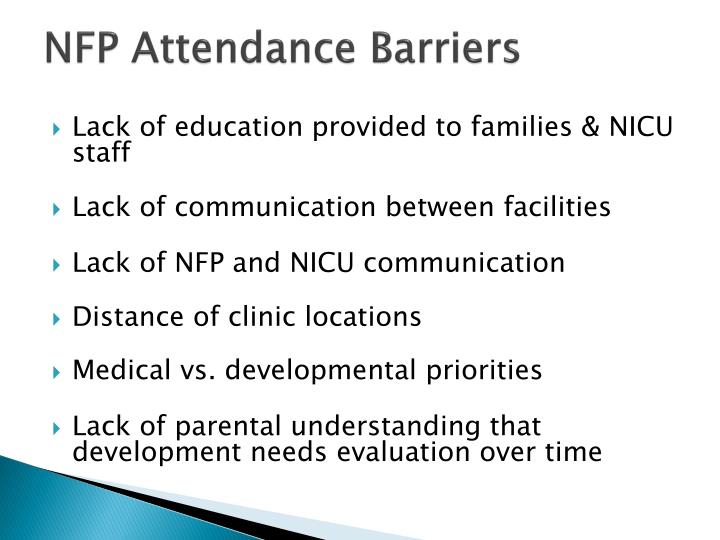 NFP Attendance Barriers