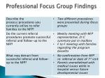professional focus group findings1