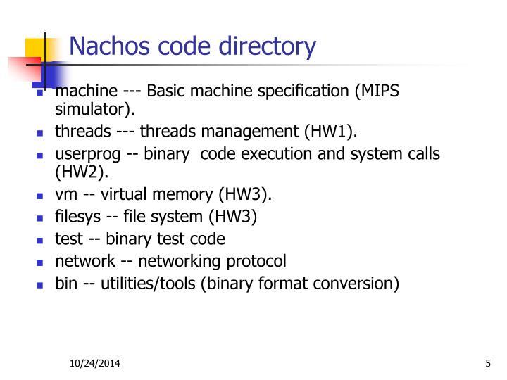 Nachos code directory