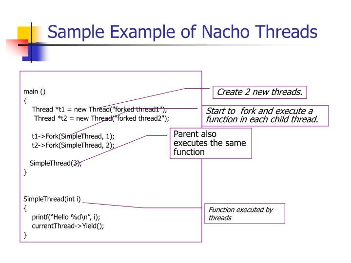 Sample Example of Nacho Threads