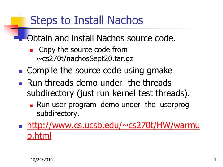 Steps to Install Nachos