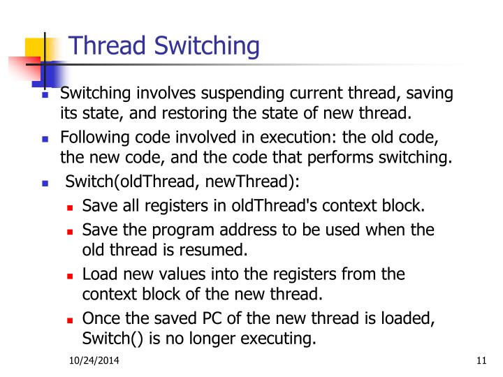Thread Switching