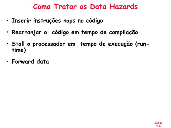 Como Tratar os Data Hazards