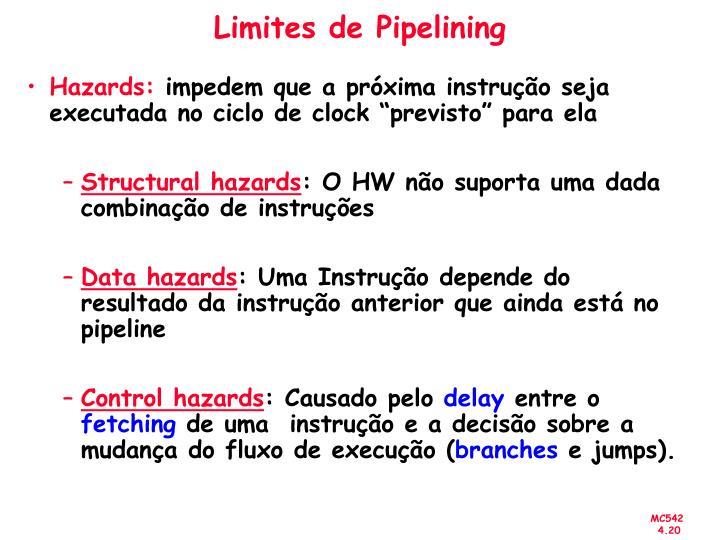 Limites de Pipelining