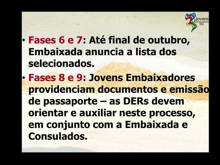 Fases 6 e 7