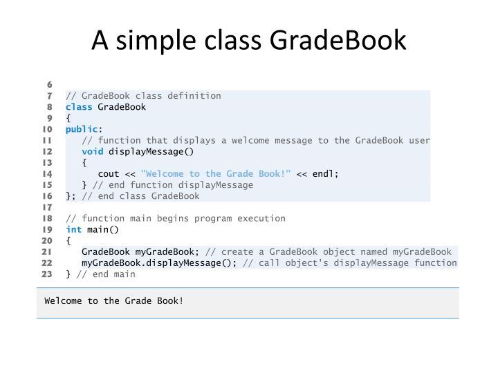 A simple class