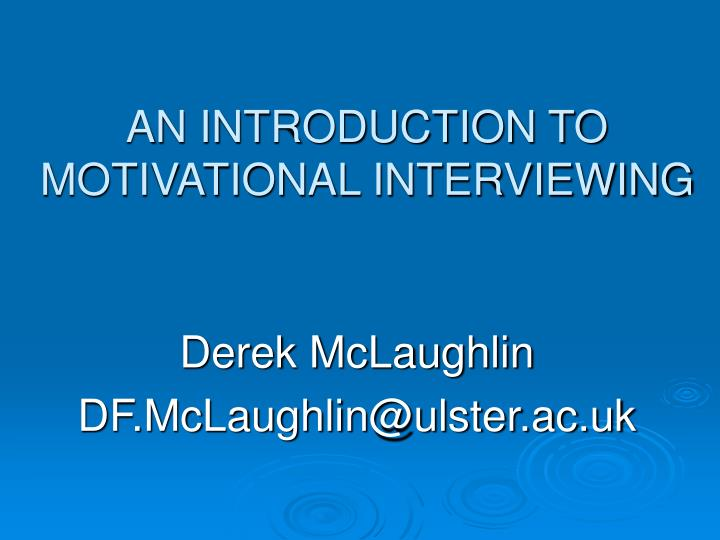 an introduction to an interview Introduction to interviews damian gordon  interview questions  introductory questions warm up questions.
