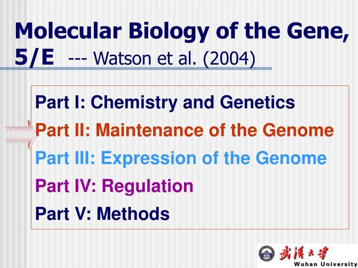 Molecular Biology of the Gene, 5/E
