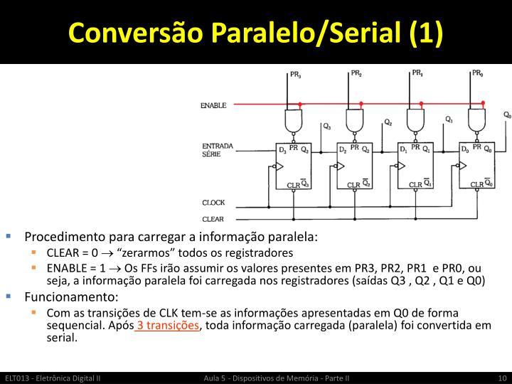 Conversão Paralelo/Serial (1)