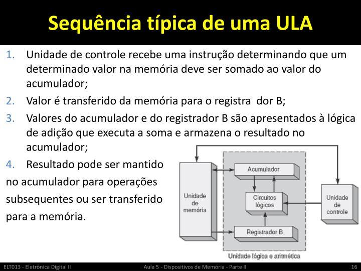 Sequência típica de uma ULA
