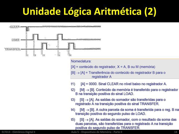 Unidade Lógica Aritmética (2)
