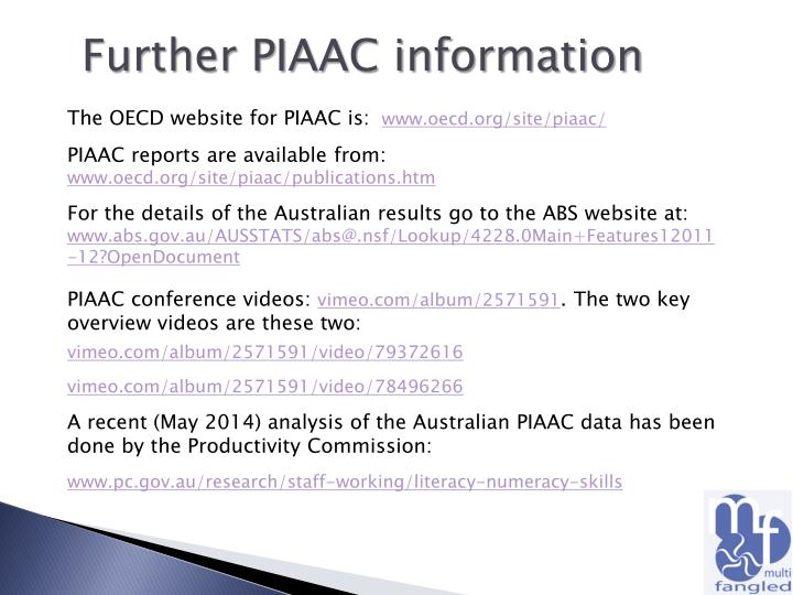 Further PIAAC information
