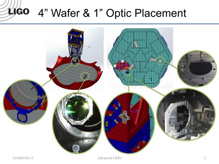 4 wafer 1 optic placement