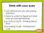 think with your eyes