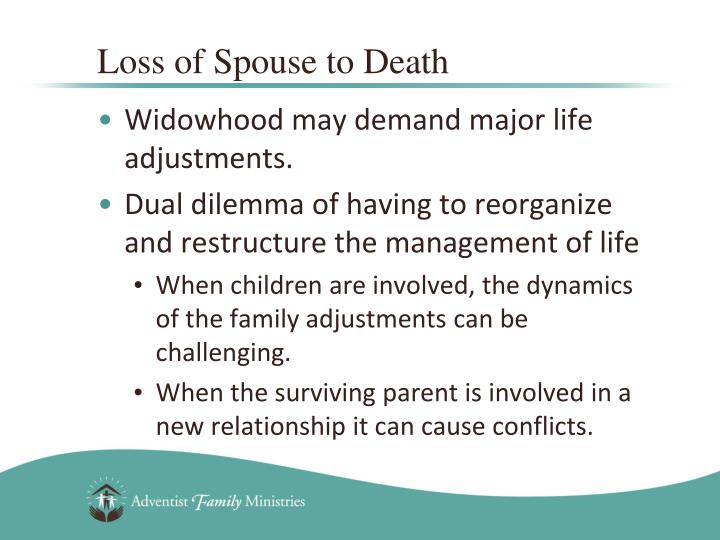 Loss of Spouse to Death