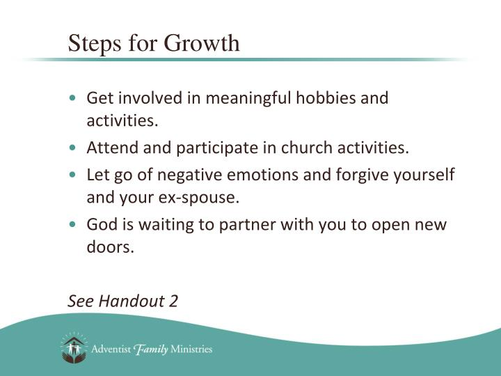 Steps for Growth