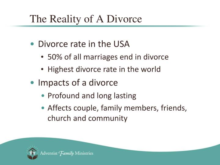 The Reality of A Divorce