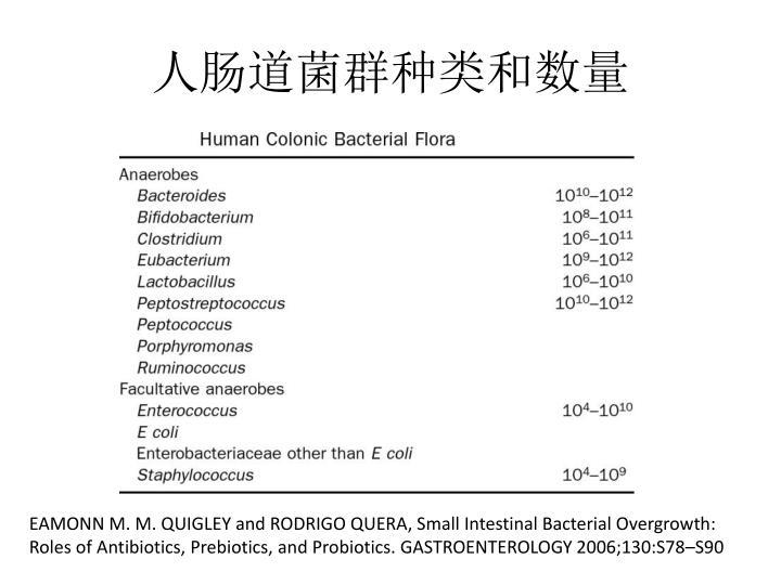 人肠道菌群种类和数量