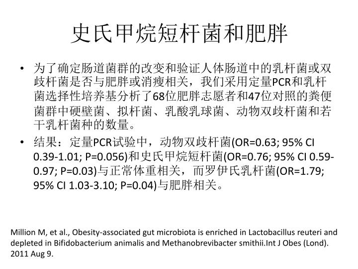 史氏甲烷短杆菌和肥胖