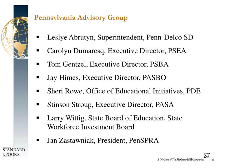 Pennsylvania Advisory Group
