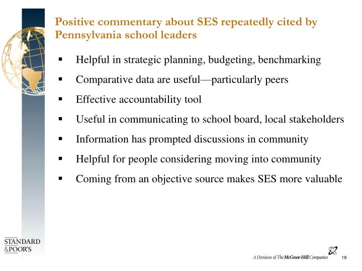 Positive commentary about SES repeatedly cited by Pennsylvania school leaders