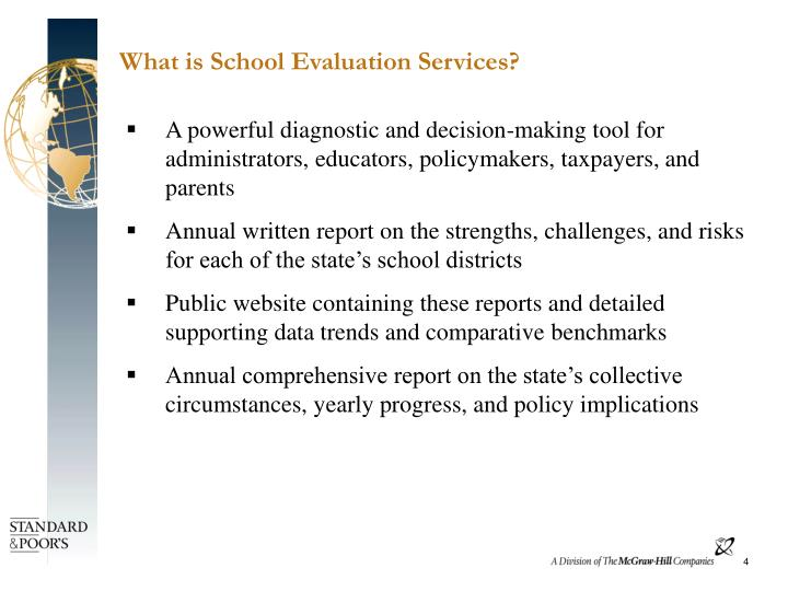What is School Evaluation Services?