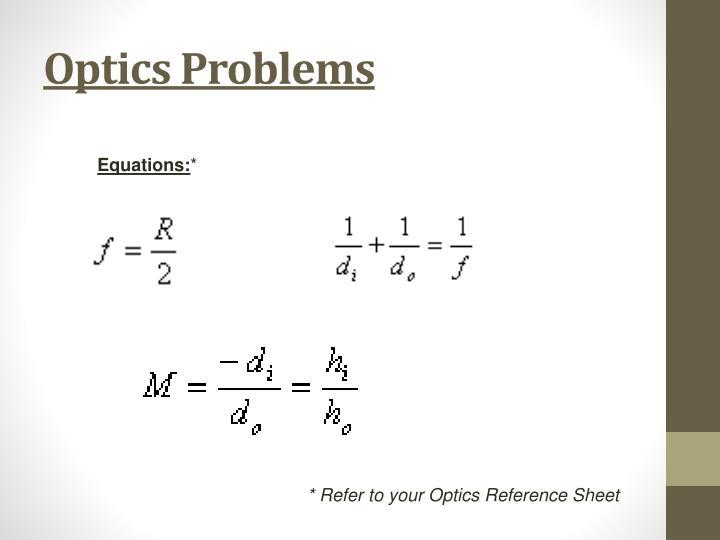 Optics Problems