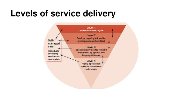 Levels of service delivery