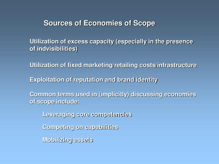 Sources of Economies of Scope