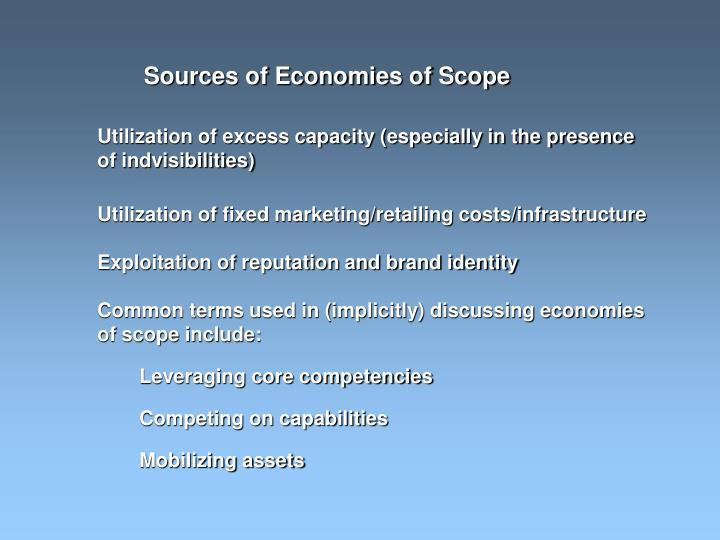 Sources of Economies of Scope