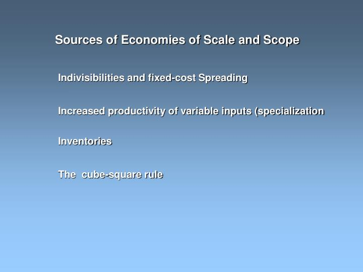 Sources of Economies of Scale and Scope