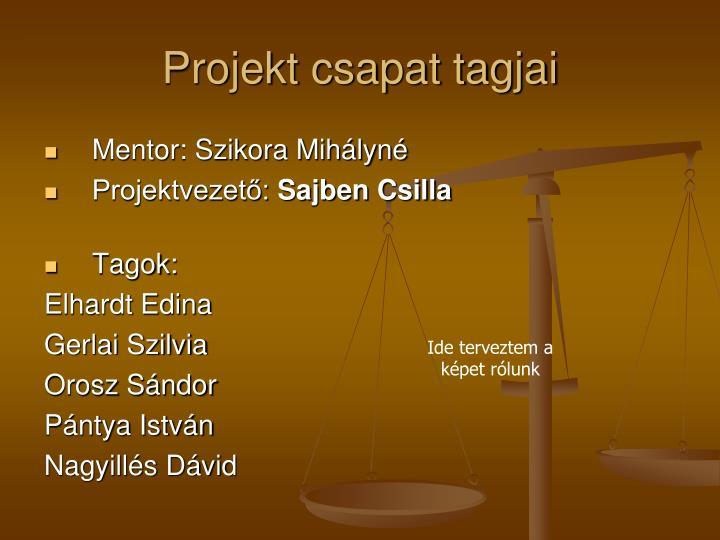 Projekt csapat tagjai
