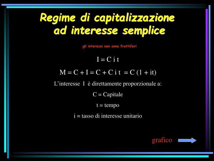 Regime di capitalizzazione