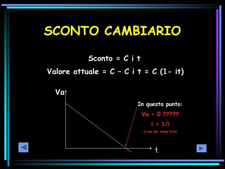 SCONTO CAMBIARIO
