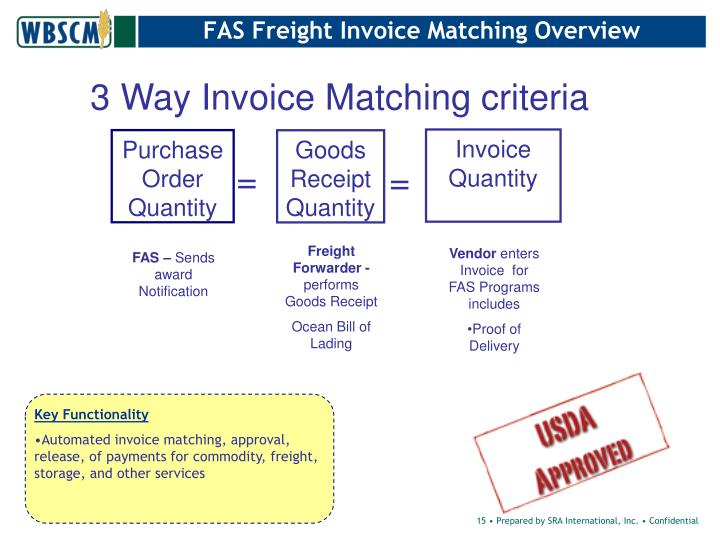 FAS Freight Invoice Matching Overview