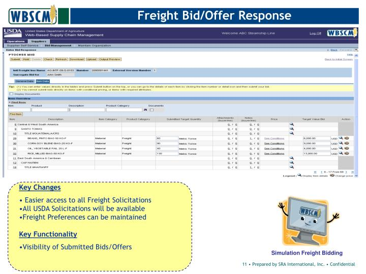 Freight Bid/Offer Response