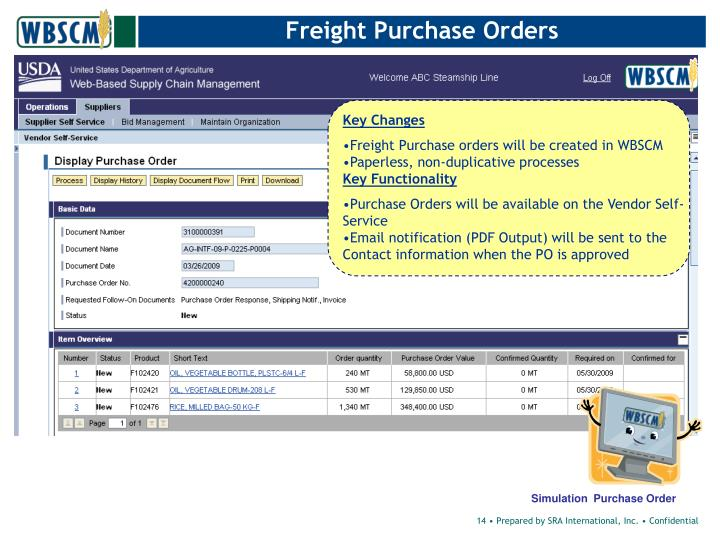 Freight Purchase Orders