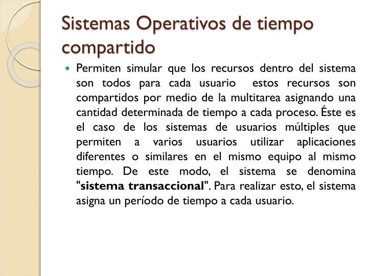 Sistemas Operativos de tiempo compartido