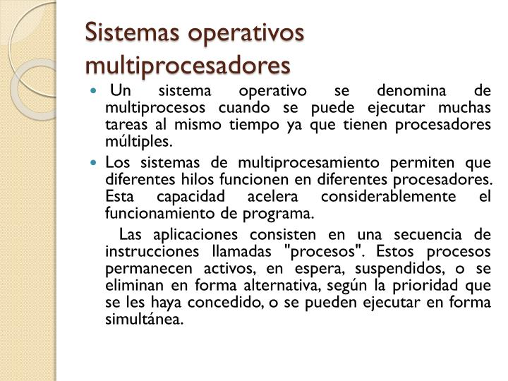 Sistemas operativos multiprocesadores